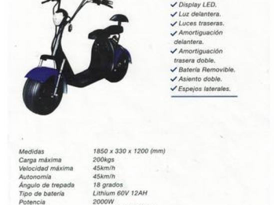 SCOOTER ELECTRICO FUTUR E FX-07 2 asientos